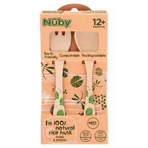 Nuby Rice Husk Fork & Spoon