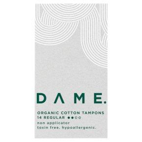DAME Organic Cotton Tampons Regular