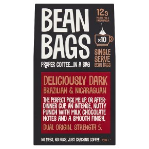 Bean Bags Deliciously Dark 10 Coffee Bean Bags