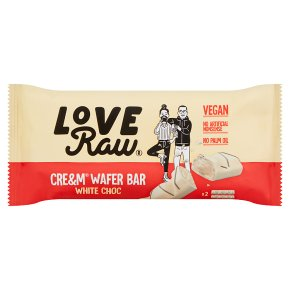 LoveRaw Cre&m Wafer Bar White Choc