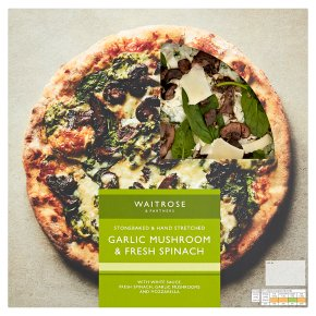 Waitrose Garlic Mushroom & Spinach Pizza