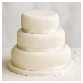 Golden Sponge Undecorated Wedding Cake