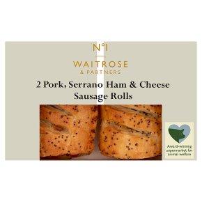 No.1 2 Pork Serrano Ham & Cheese Sausage Rolls