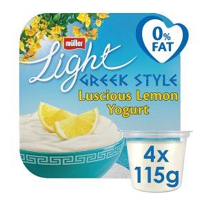 Müller Light Luscious Lemon Greek Style Yogurts