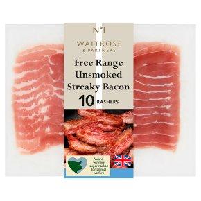 No.1 Free Range Unsmoked Streaky Bacon