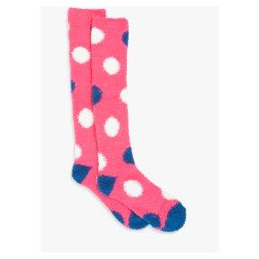 John Lewis Cosy Fleece Knee High Socks Pink