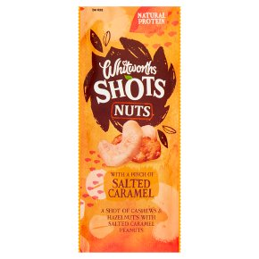 Whitworths Shots Nuts Salted Caramel