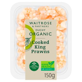 Duchy Organic Cooked King Prawns