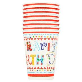 Waitrose Home Happy Birthday Paper Cups