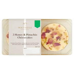 No.1 2 Honey & Pistachio Cheesecakes