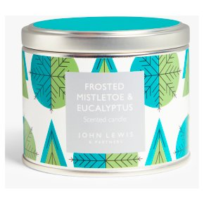 John Lewis Silver Tin Candle