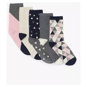 John Lewis Geometrics Socks 5pk