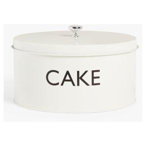John Lewis Enamel Cream Cake Tin