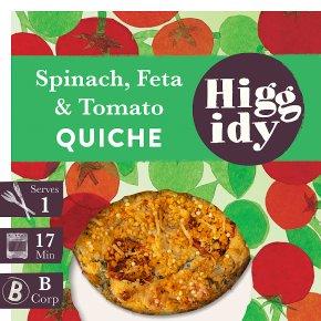 Higgidy Spinach, Feta & Roast Tomato Quiche