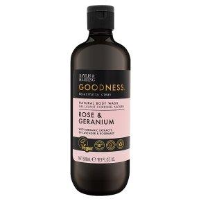 Goodness Rose & Geranium Body Wash