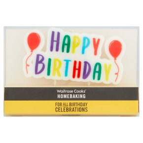 Cooks' Homebaking birthday candles | Waitrose & Partners