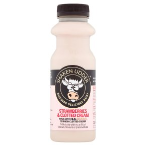 Shaken Udder Strawberries & Cream Milkshake