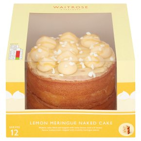 Waitrose Lemon Meringue Naked Cake