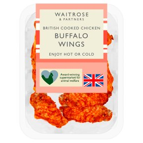 Waitrose British Cooked Chicken Buffalo Wings