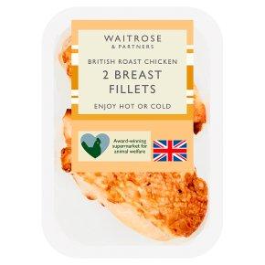 Waitrose British 2 Roast Chicken Breast Fillets
