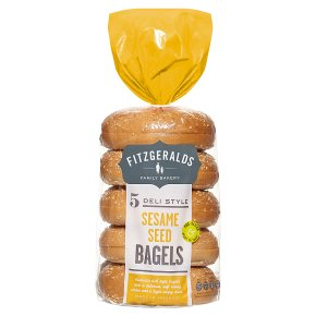 Fitzgeralds Sesame Seed Bagels