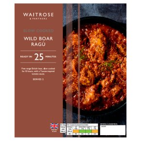Waitrose Slow Cooked Wild Boar Ragu