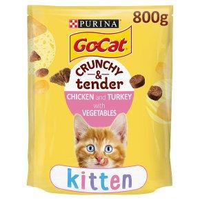 Go-Cat Kitten Crunchy & Tender Chicken & Turkey Mix