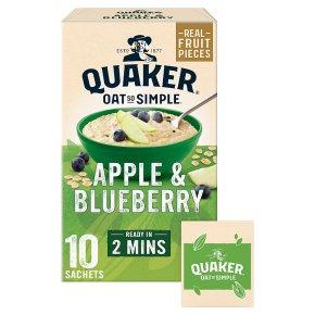 Quaker Oat So Simple Apple & Blueberry 10 Porridge Sachets
