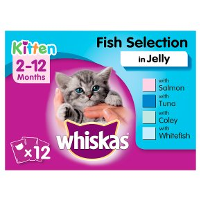 Whiskas Kitten Fish Selection in Jelly