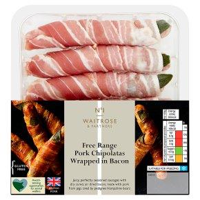 Waitrose No1 FR Pork Chipolatas in Bacon
