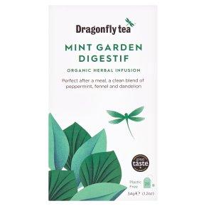 Dragonfly Tea Mint Garden Digestif Herbal Infusion 20s