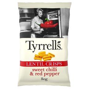 Tyrrell's SChilli & Red Pepper Lentil Crisps