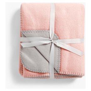 John Lewis Anyday Fleece Throw Plaster Pink