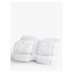 John Lewis Cotton Hand Towel Bale White 2 Pack