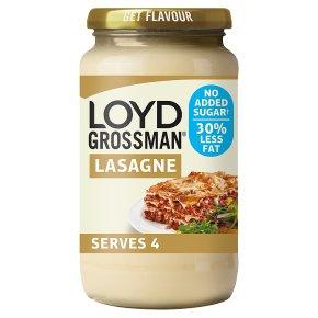 Loyd Grossman 30% Less Fat, NAS White Lasagne Sauce