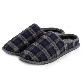 Totes Wool Check Mule