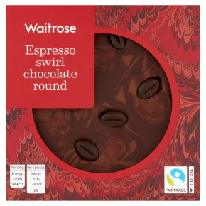 Waitrose Espresso Swirl Chocolate Round