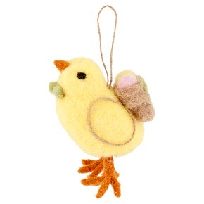 Waitrose Easter Chick With Backpack Hanging Decoration