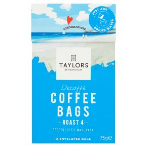 Taylors of Harrogate Decaffé 10 Coffee Bags