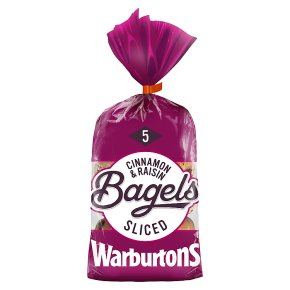 Warburtons Bagels Cinnamon & Raisin