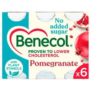 Benecol No Added Sugar Pomegranate Yogurt Drinks