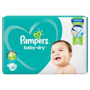 Pampers baby-dry 4+ maxi plus 10.15kg