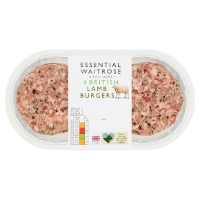 Essential 4 British Lamb Burgers