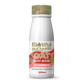 Biotiful Dairy Plant Based Oat Kefir Strawberry