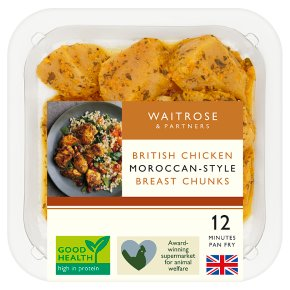 Waitrose British Chicken Moroccan Spiced Breast Chunks