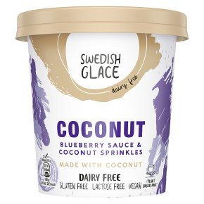 Swedish Glace Coconut & Blueberry Dairy Free Ice Cream