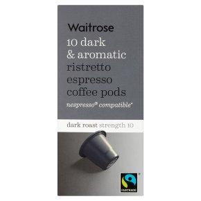 Waitrose Espresso Coffee Pods Ristretto 10s