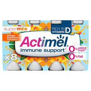 Actimel 0% Supermix Turmeric, Goji Berry Mango Yogurt Drinks