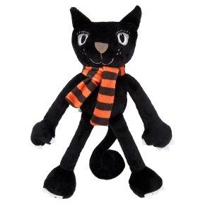 John Lewis Halloween Cat Plush With Scarf