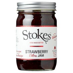 Stokes real preserves strawberry jam